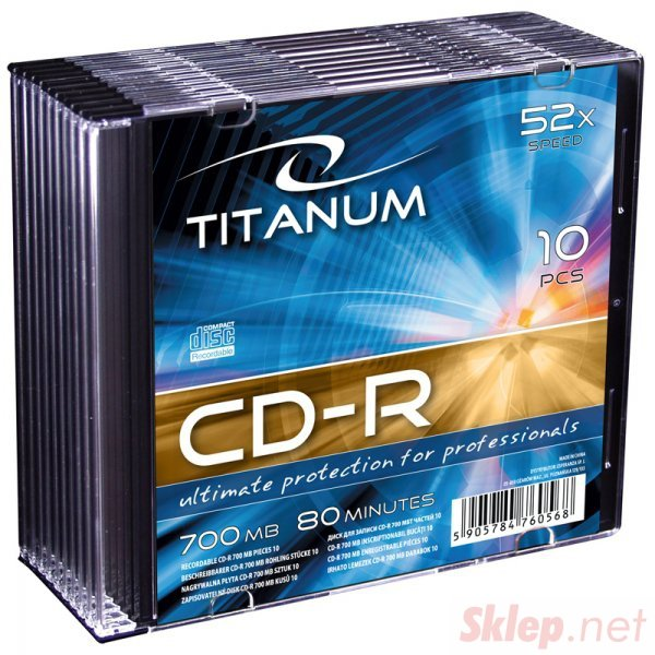 2028 CD-R - Slim Case 10 sztuk Titanum