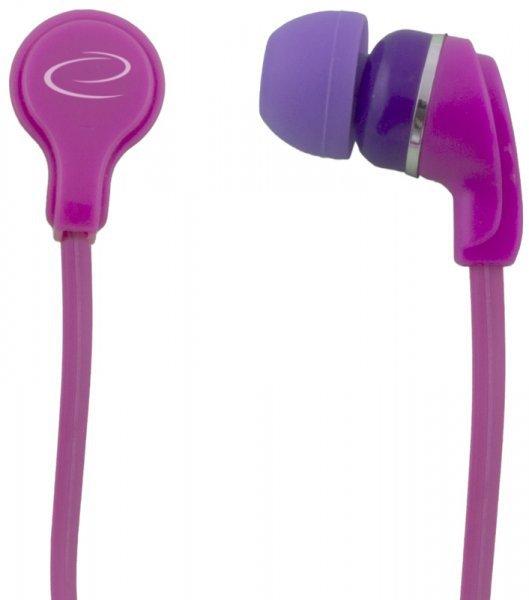 EH147P Esperanza słuchawki douszne neon różowe