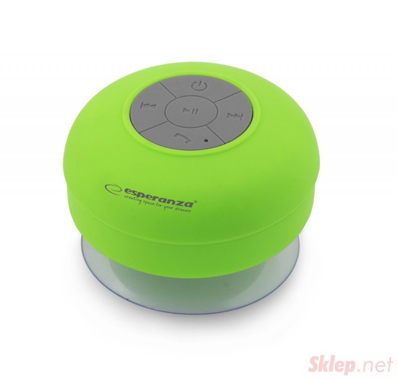 EP124G Esperanza głośnik bluetooth wodoodporny sprinkle zielony