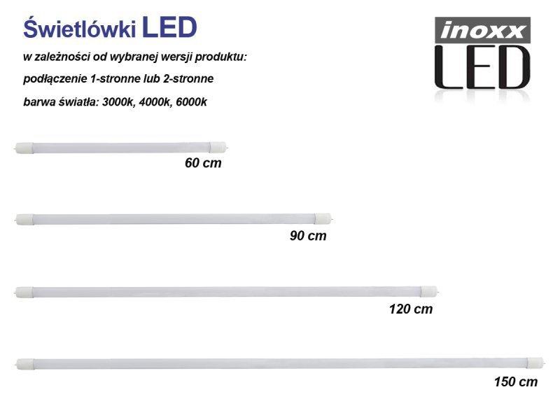 Świetlówka led 60cm 9w t8 3000k g13 jednostronna ciepła