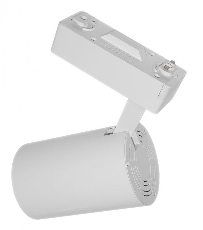 Lampa sklepowa led reflektor szynowy jednofazowy biały 30w 2250 lm światło neutralne 4000k