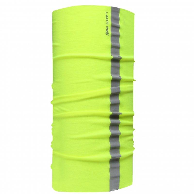 L1030100 Chusta wielofunkcyjna żółta z pasem odblaskowym