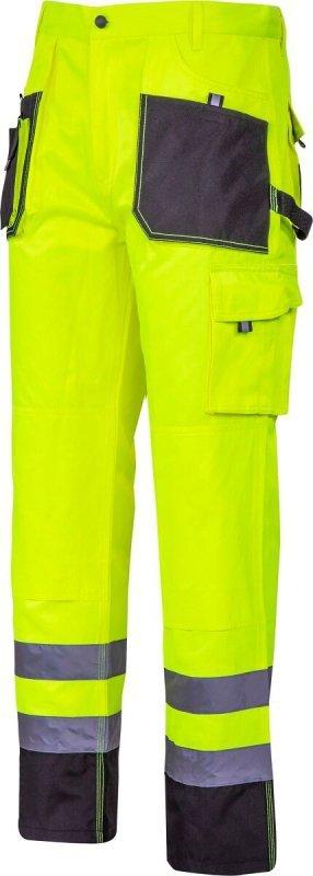 """Spodnie ostrzegawcze czarno-żółte, """"l"""", ce, lahti"""