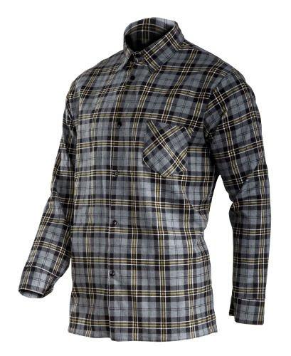 "Koszula flanelowa szara, 170g/m2, ""l"", ce, lahti"
