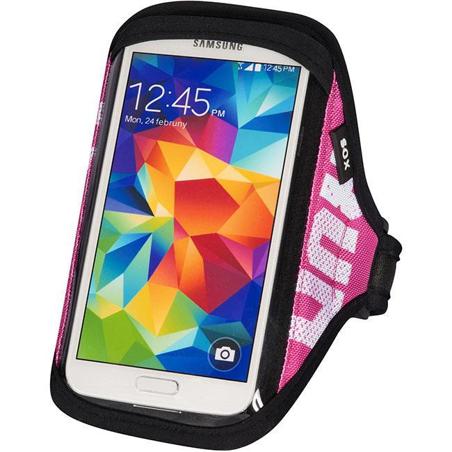SOX opaska sportowa na smartfon RUN AWAY S/M 25-33cm różowa
