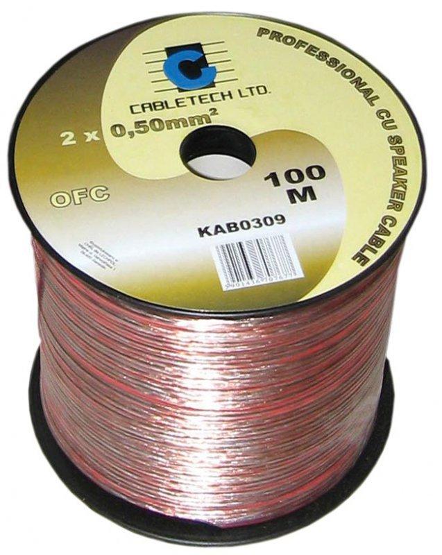 KAB0309 Kabel głośnikowy OFC 0,5mm (rolka 100m)
