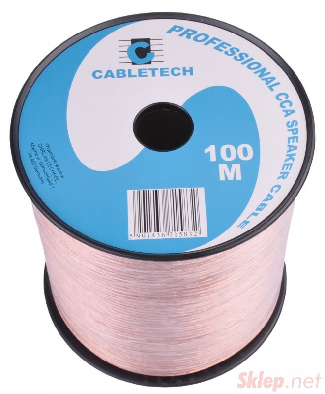 KAB0354 Kabel głośnikowy CCA 0.50mm (rolka 100m)