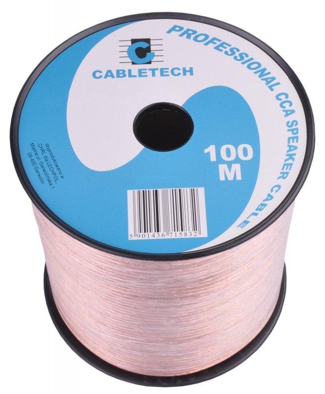 KAB0356 Kabel głośnikowy CCA 0.75mm (rolka 100m)