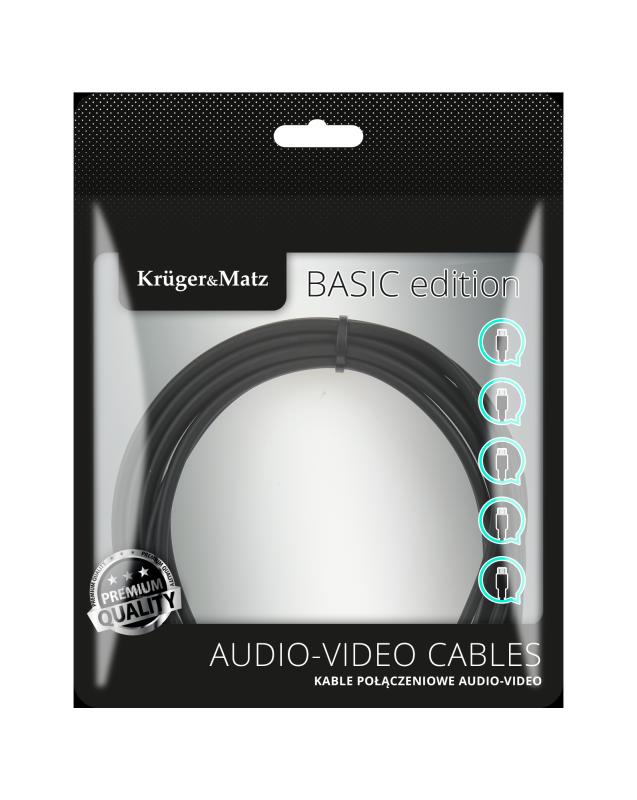 Kabel jack 3.5 wtyk stereo - 3.5 wtyk stereo 1.8m Kruger&Matz Basic