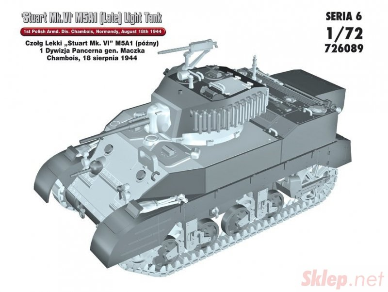 "Czołg Lekki ""Stuart Mk.VI"" M5A1 1 Dywizja Pancerna gen. Maczka, Chambois, 18 sierpnia 1944"