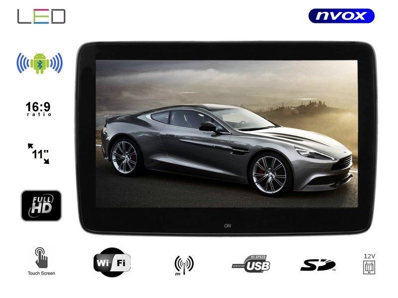 Monitor samochodowy zagłówkowy dedykowany do mercedes benz 11cali led full hd z systemem android oraz usb sd fm bt wifi 12v