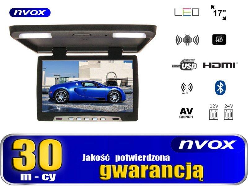 Monitor podwieszany podsufitowy led 17cali z systemem android usb sd fm bt wifi 12v