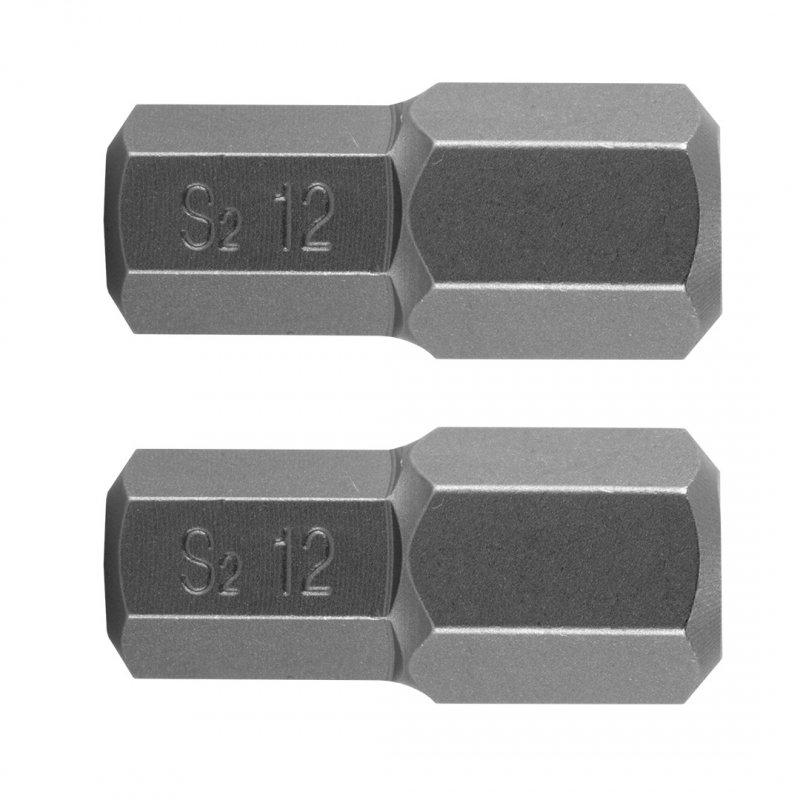 Końcówka HEX 12 x 30 mm, S2 x 2 szt.