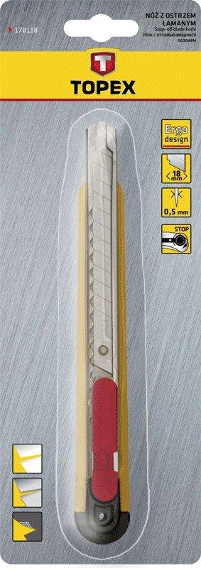 Nóż z ostrzem łamanym 9 mm