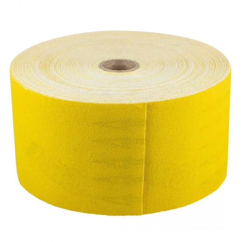 Papier ścierny żółty 115 mm, K150 ,rolka 50 m