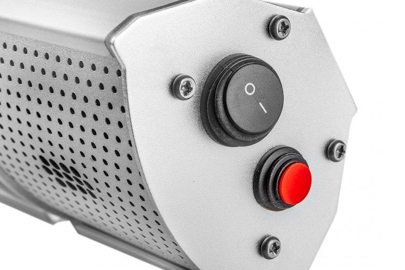 Promiennik 2000W, IP65, element grzejny golden halogen lamp, pilot, regulacja mocy 2 poziomy