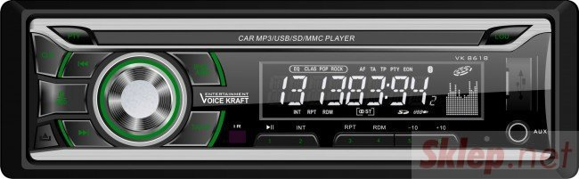 8618-GREEN Radioodtwarzacz samochodowy Voice Kraft 8618