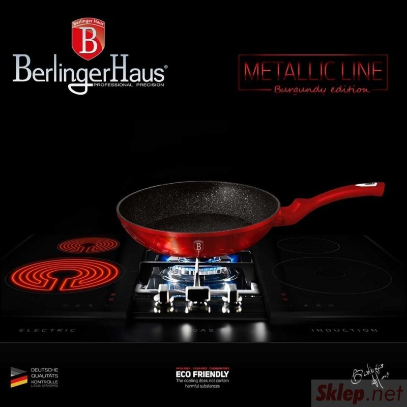 PATELNIA GRANITOWA 28cm BERLINGER HAUS BURGUNDY BH-1253