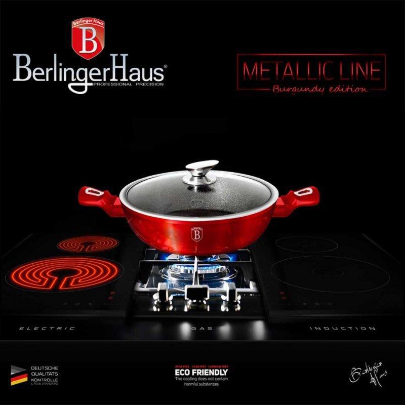 GARNEK GRANITOWY 24cm BERLINGER HAUS BH-1262 BURGUNDY METALLIC
