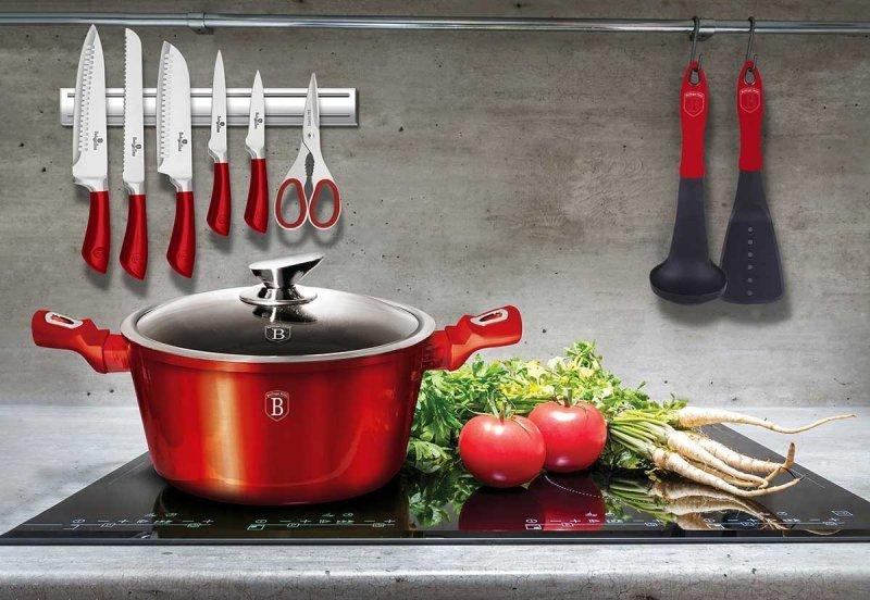 GARNEK GRANITOWY 28cm BERLINGER HAUS RED METALLIC LINE BH-1258