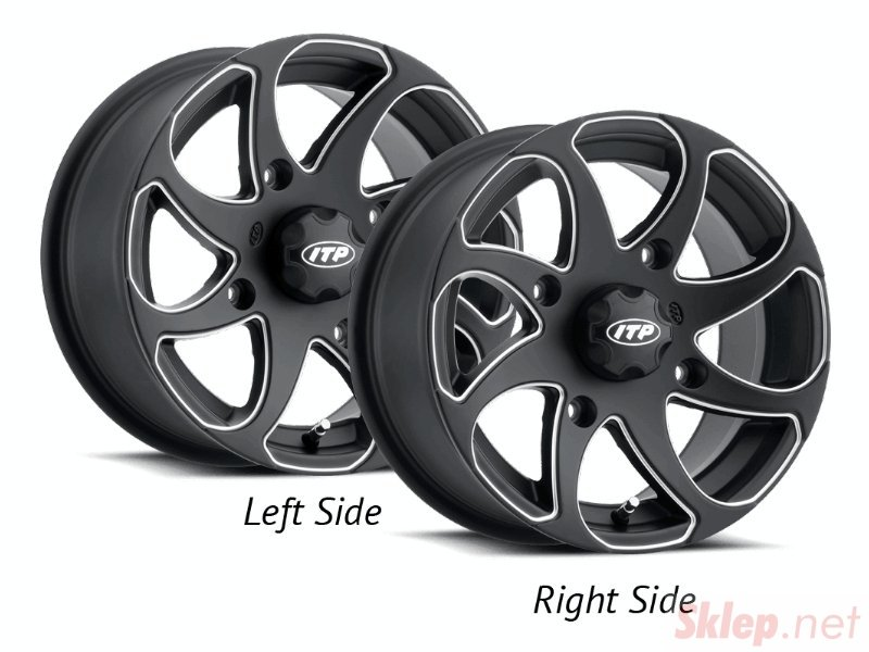 ITP TWISTER 1422328727BR 14x7 4/136 5+2 Black Milled RIGHT