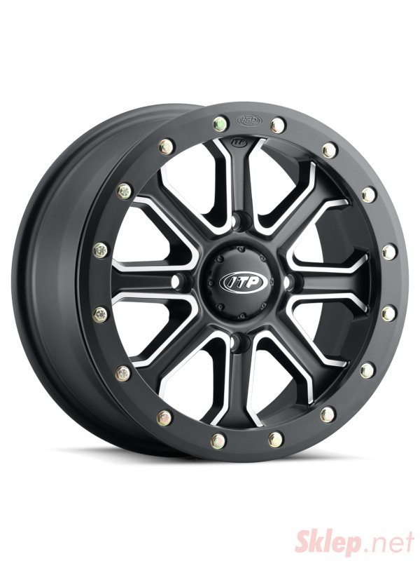 ITP INERTIA BEADLOCK 15x7 4/136 5+2 (+30mm) Matte Black/Machined 1522527727B