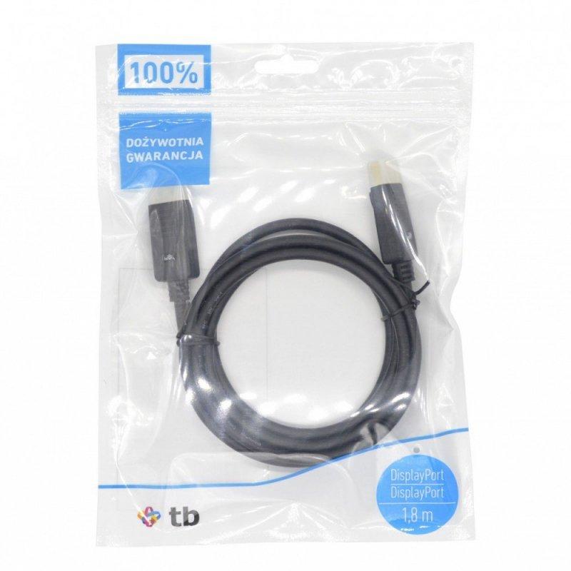 Kabel DisplayPort M/M 1.8 m. czarny