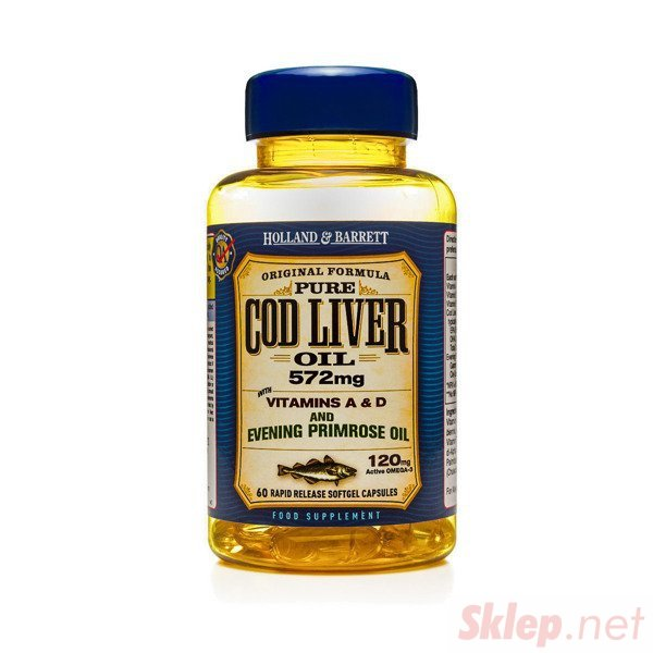 Olej z Wątroby Dorsza z Wiesiołkiem 500 mg 60 Kapsułek