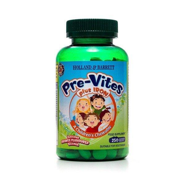 PreVites Multiwitamina z Żelazem 250 Tabletek do Żucia