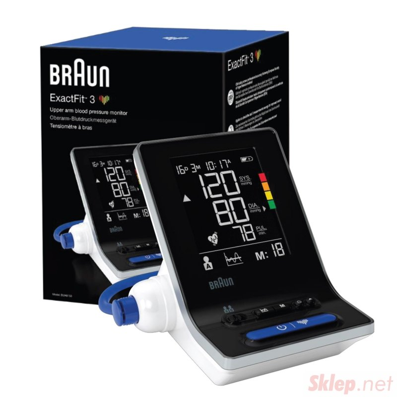 Braun ExactFit 3 BUA6150 Ciśnieniomierz naramienny. Łatwy w obsłudze, funkcjonalny.