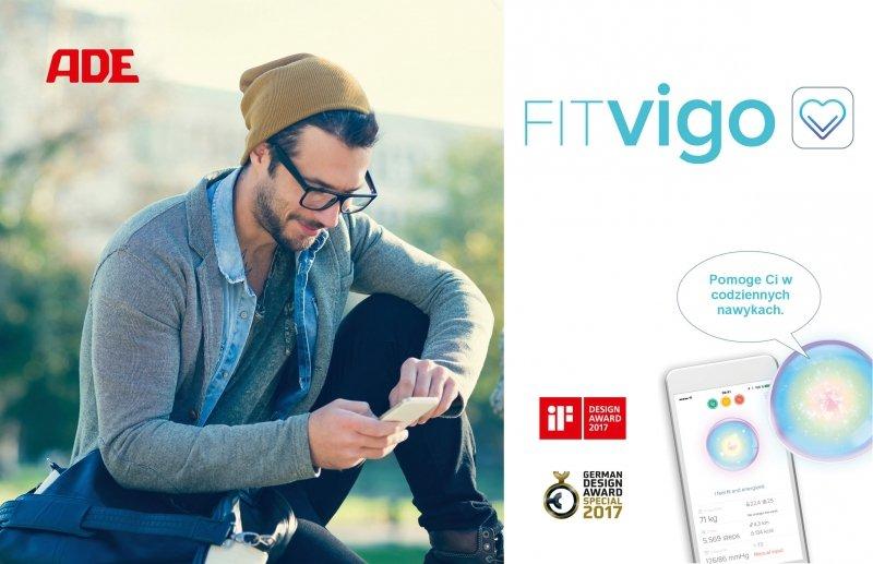 ADE FITVigo BA1601 Cyfrowa waga z analizą składu ciała srebrna z Bluetooth