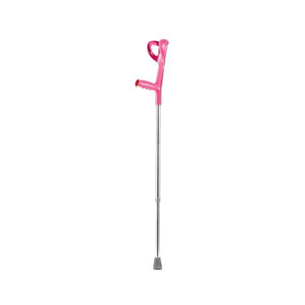 TIMAGO Kula inwalidzka łokciowa-różowo- srebrny Kula inwalidzka łokciowa