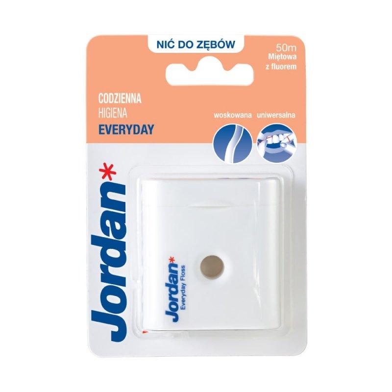 Jordan Dental Floss Everyday Floss 50m Nić z fluorem do codziennego czyszczenia