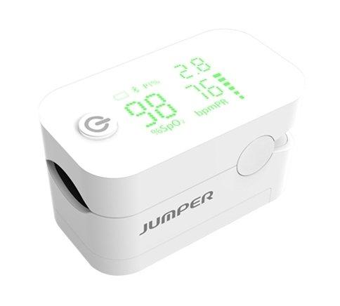 Jumper JPD-500G Pulsoksymetr biały jednokier. wyświetlacz