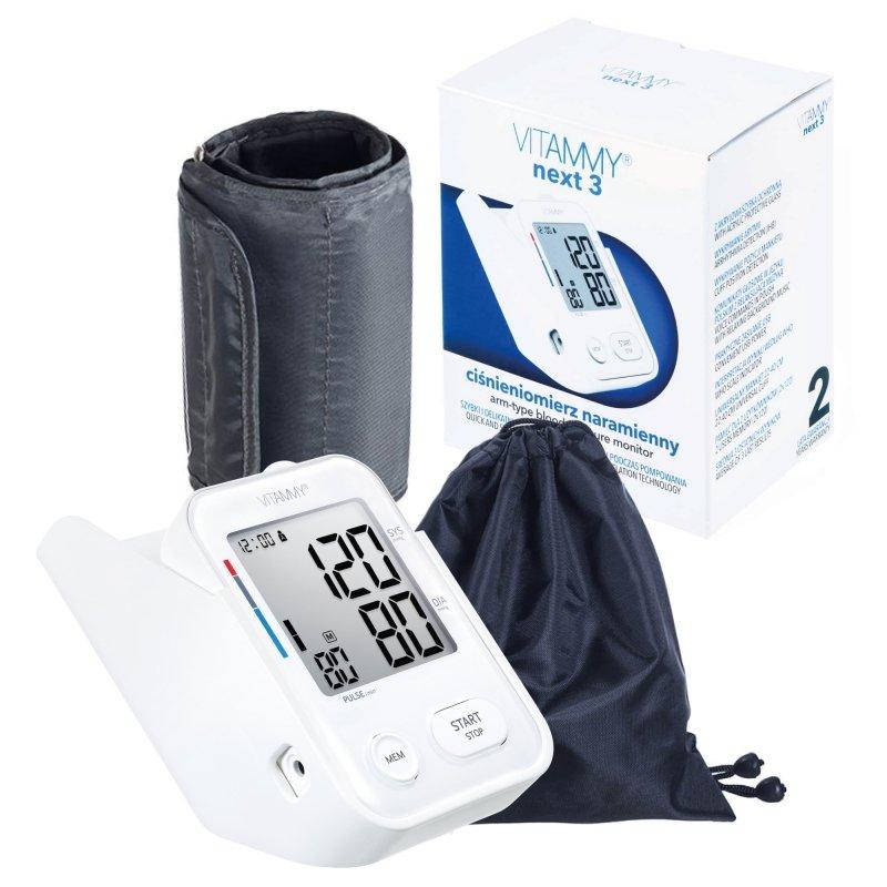 VITAMMY Next 3 Ciśnieniomierz z innowacyjnym stojakiem, funkcją głosową i praktycznym zasilaniem przez USB