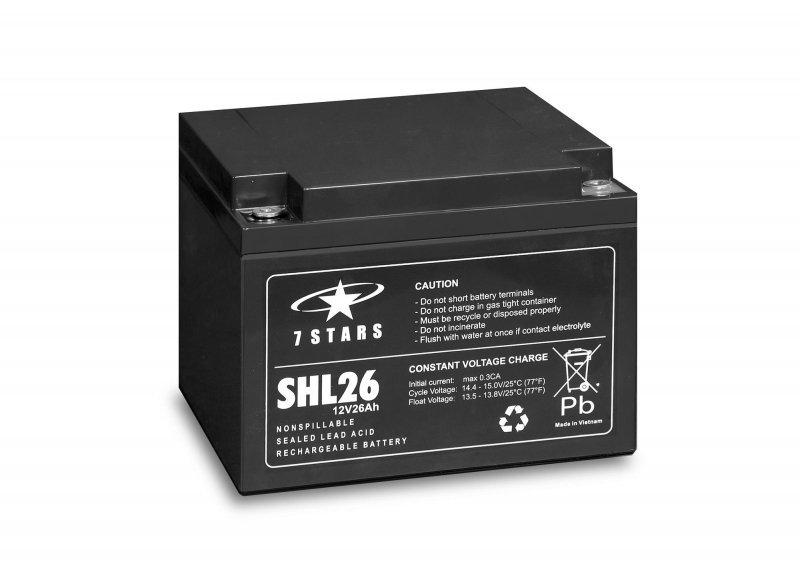 Akumulator żelowy 12V 26Ah Comex 7 Stars SHL26 Long Life (10-letni)