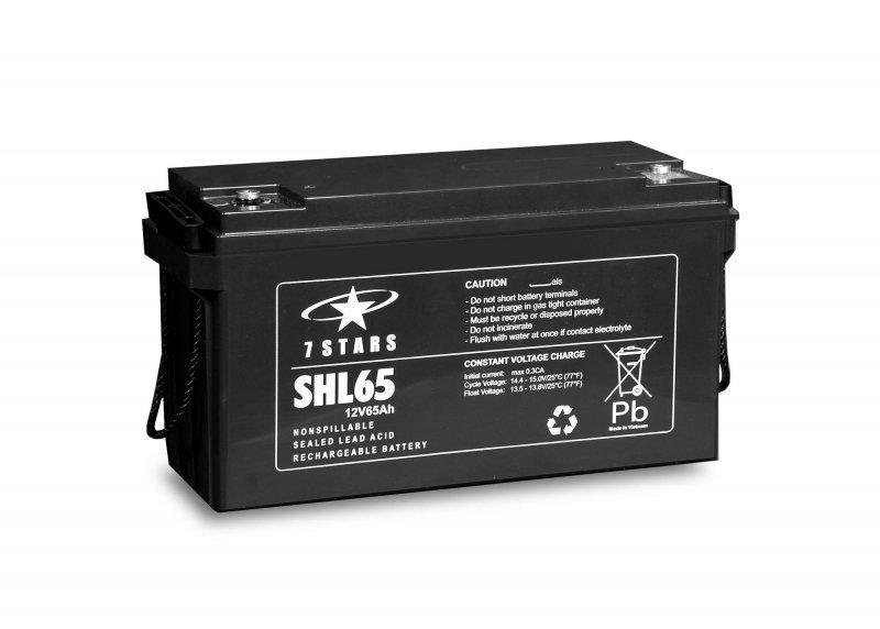 Akumulator żelowy 12V 65Ah Comex 7 Stars SHL65 Long Life (12-letni)