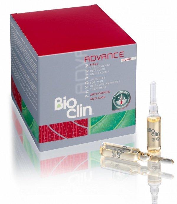 Kuracja przeciw wypadaniu awłosów dla mężczyzn , Bioclin Phydrium Advance  15x5ml