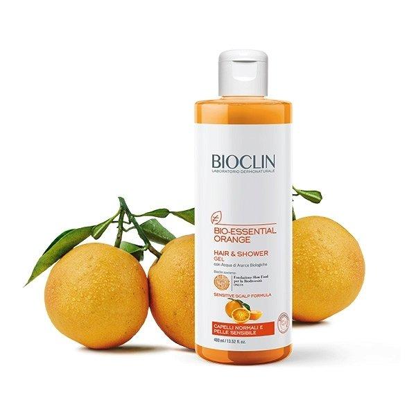 Żel pod prysznic do ciała i włosów, Bioclin BIO-ESSENTIAL ORANGE 400ml