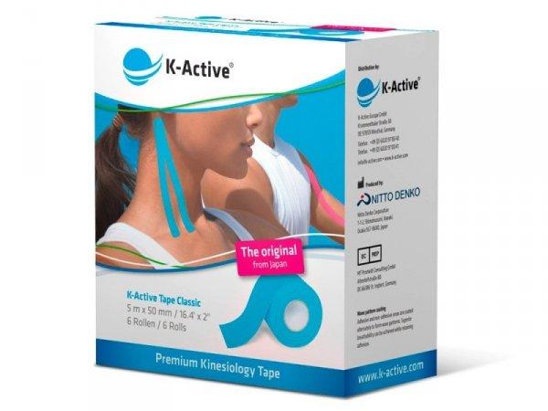 K-Active Kinesiology Tape kolor niebieski 5 cm/5 m (Nitto)