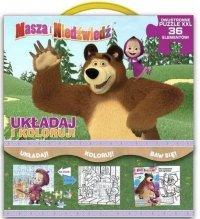 Masza i niedźwiedź. Układaj i koloruj