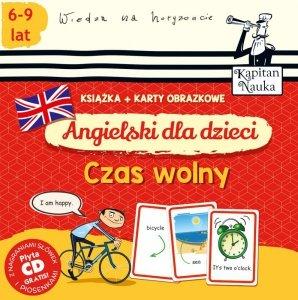Angielski dla dzieci czas wolny książka + karty obrazkowe Kapitan Nauka