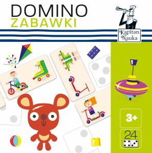 Domino obrazkowe zabawki Kapitan Nauka