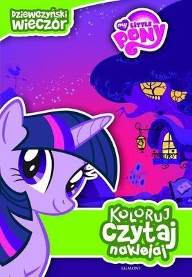 My Little Pony dziewczyński wieczór koloruj czytaj naklejaj