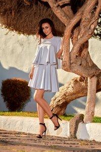 Sukienka Komplet Model L238 Light Grey - Lemoniade