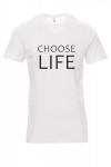 Koszulka biała - znakowanie - choose life