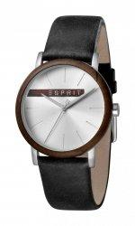 Męski zegarek Esprit ES Plywood srebrny czarny - G ES1G030L0035
