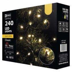 Lampki choinkowe 24m biała ciepła 240szt ZY1705T