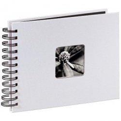 Album na spirali fine art 24x17 biały 50 czarnych stron