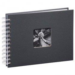 Album tradycyjny na spirali fine art 24x17 szary 50 białych stron